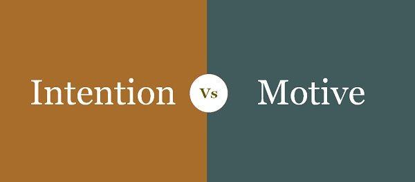 intention vs motive
