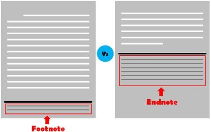 Footnote Vs Endnote