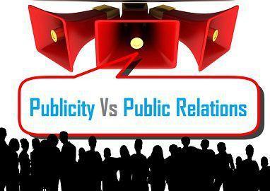 Publicity Vs Public Relations