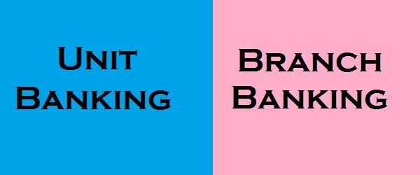 Unit banking vs branch banking