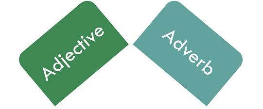 difference between adjective and adverb  with comparison