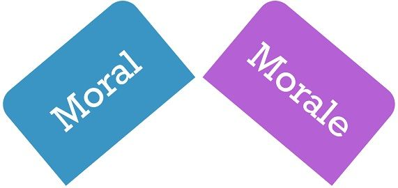 The Moral Differences Between Pro And >> Difference Between Moral And Morale With Comparison Chart Key