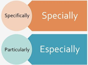 specially vs especially