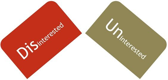 Disinterested vs Uninterested