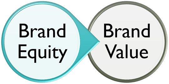 brand equity vs brand value