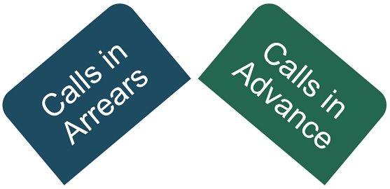 calls-in-arrears-vs-calls-in-advance